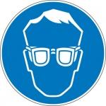 Pictogram Oogbescherming verplicht sticker