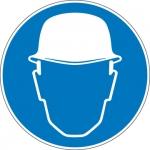 Pictogram Veiligheidshelm verplicht sticker
