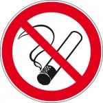 Pictogram Roken verboden sticker