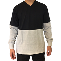 2095 t-shirt met aangezette zintex mouwen en buik
