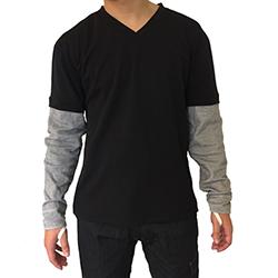 2095 t-shirt met aangezette zintex mouwen