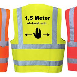 Corona veiligheidsvest 1,5 meter afstand (Stop-teken)