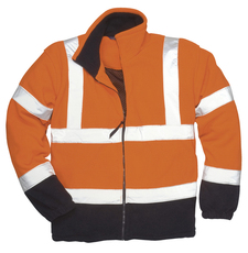 PW F301 Hi-visible fleece vest